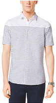 Michael Kors Slim-Fit Striped Cotton Shirt