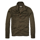 Scotch & Soda Scotch And Soda - Men's Shirt Jacket with Detachable Inner - Military