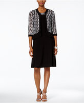 R & M Richards A-Line Dress and Sequined Jacket