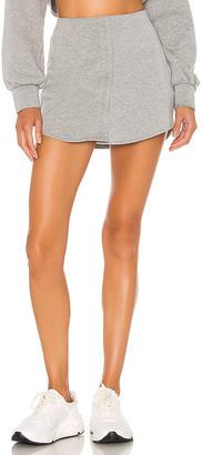 DANIELLE GUIZIO Fleece Button Skirt