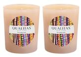 Qualitas Candles Sugarcane Beeswax Candles (Set of 2) (6.5 OZ)