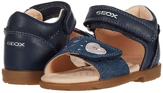 Geox Kids Verred 25 (Toddler) (Navy) Girl's Shoes