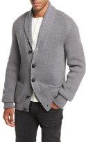 Tom Ford Iconic Shawl-Collar Cardigan, Light Gray