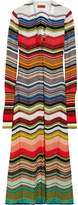 Missoni Striped Crochet-knit Cardigan - Red