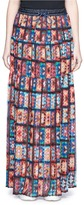 Sacai Floral print chiffon maxi skirt