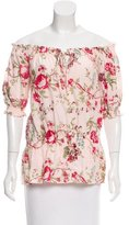 PJK Patterson J. Kincaid Floral Print Short Sleeve Top