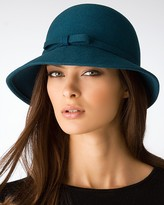 Aqua Cloche Hat with Bow