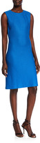 St. John Honeycomb Sleeveless Knit Dress