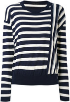 Roberto Collina contrast stripe sweater - women - Cotton - M