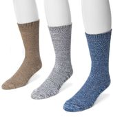 Muk Luks Adult 3-Pack Marbled Socks