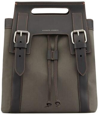 Giuseppe Zanotti Double Buckled Drawstring Backpack