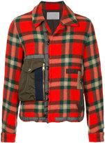 Kolor checked shirt jacket