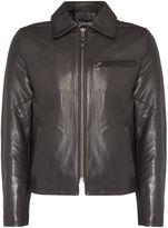 Schott Nyc Lc5142 Leather Zip Though Jacket