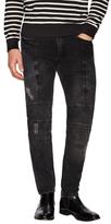 Distressed Skinny Motorcycle Jeans