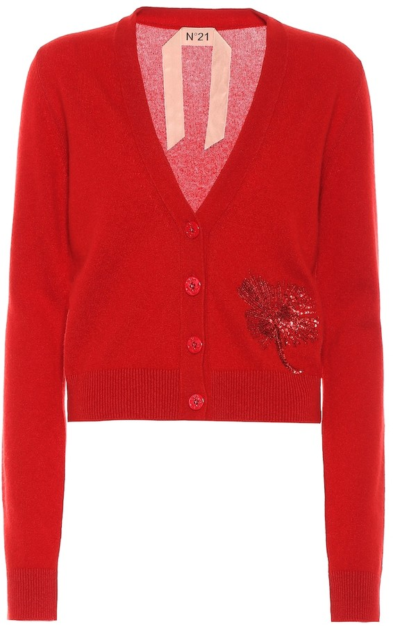 N°21 Sequined cashmere cardigan