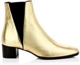 Giuseppe Zanotti Judy Metallic Leather Chelsea Boots