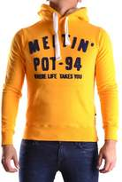 Meltin Pot Men's Yellow Cotton Sweatshirt.