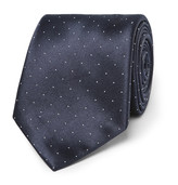 Brioni 8.5cm Polka-Dot Silk and Cotton-Blend Tie