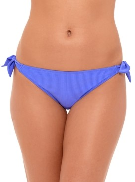 Macy's Salt + Cove Juniors' Ribbed Side-Tie Hipster Bikini Bottoms, Created For Women's Swimsuit