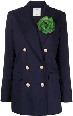 Sandro Double-Breasted Floral Sash Jacket