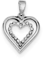 jewelryPot Sterling Silver Rhodium Plated Diamond Heart Pendant (Color , Clarity SI2-I1)