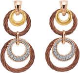 Alor Petra 18K & Stainless Steel 0.10 Ct. Tw. Diamond Drop Earrings