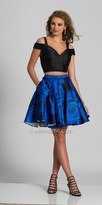 Dave and Johnny Two Piece Pleated Rose Party Dress