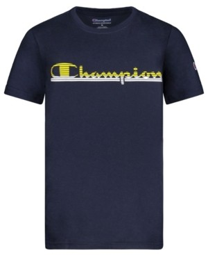 Champion Little Boys Panel Stripe Tee