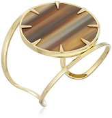 Vince Camuto Claw Set Horn Gold/Brown Horn Cuff Bracelet