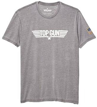Lucky Brand Top Gun Bold T-Shirt (Gargoyle Grey) Men's Clothing