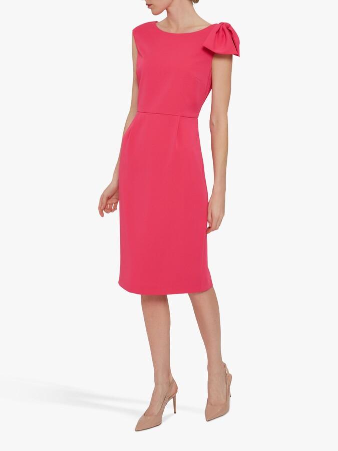 Thumbnail for your product : Gina Bacconi Gratia Moss Crepe Shift Dress