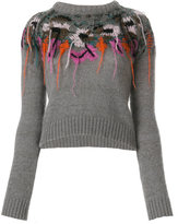A.F.Vandevorst slim-fit embroidered knitted top