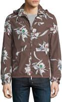 Valentino Floral-Print Wind-Resistant Jacket