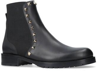 Valentino Garavani Leather Rockstud Chelsea Boots