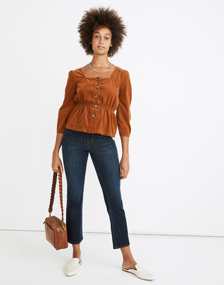 Madewell Cali Demi-Boot Jeans in Larkspur Wash: Tencel Denim Edition