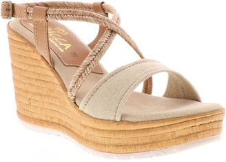 Sbicca Fabric Wedge Sandals - Alisanna
