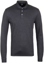 Boss Pickell 03 Charcoal Marl Long Sleeved Polo Shirt