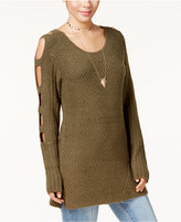 Almost Famous Juniors' Ladder-Sleeve Sweater