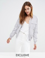 Missguided Exclusive Utility Bomber Jacket