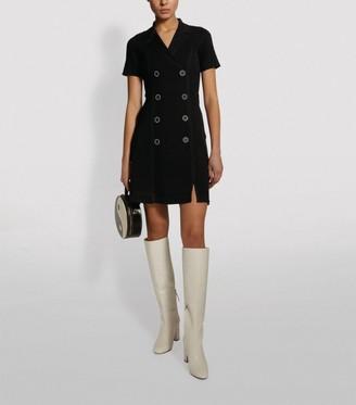 Sandro Paris Knitted Tailored Dress