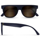 RetroSuperFuture Super Sunglasses Small Flat Top Deep Blue