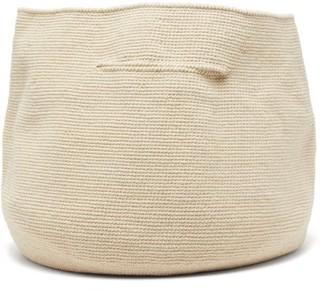 LAUREN MANOOGIAN Bowl Cotton And Linen Handbag - Womens - Beige