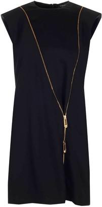 Versace Zip Detail Mini Dress