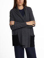 White + Warren Cashmere Color Spliced Cardigan