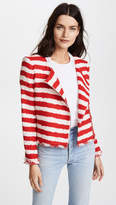 Alice + Olivia Stanton Collarless Frayed Edge Jacket