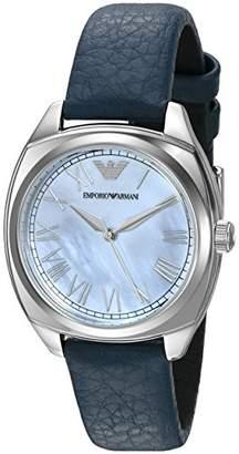 Emporio Armani Women's AR1953 Fashion Blue Leather Watch