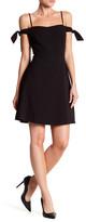 Kensie Cold Shoulder Crepe Dress