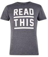 Burton Mens Blend Grey Cotton Blend Print T-Shirt*