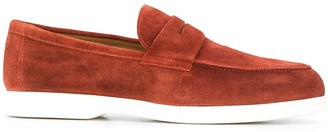 Doucal's Two-Tone Round Toe Loafers