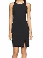 Calvin Klein Black Women's Size 10 Sheath Split-Hem Solid Dress